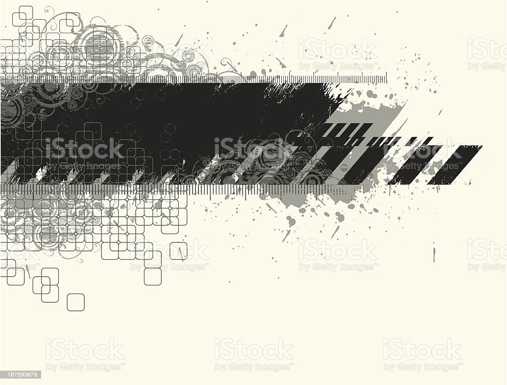 Grunge brushstroke abstract background vector art illustration