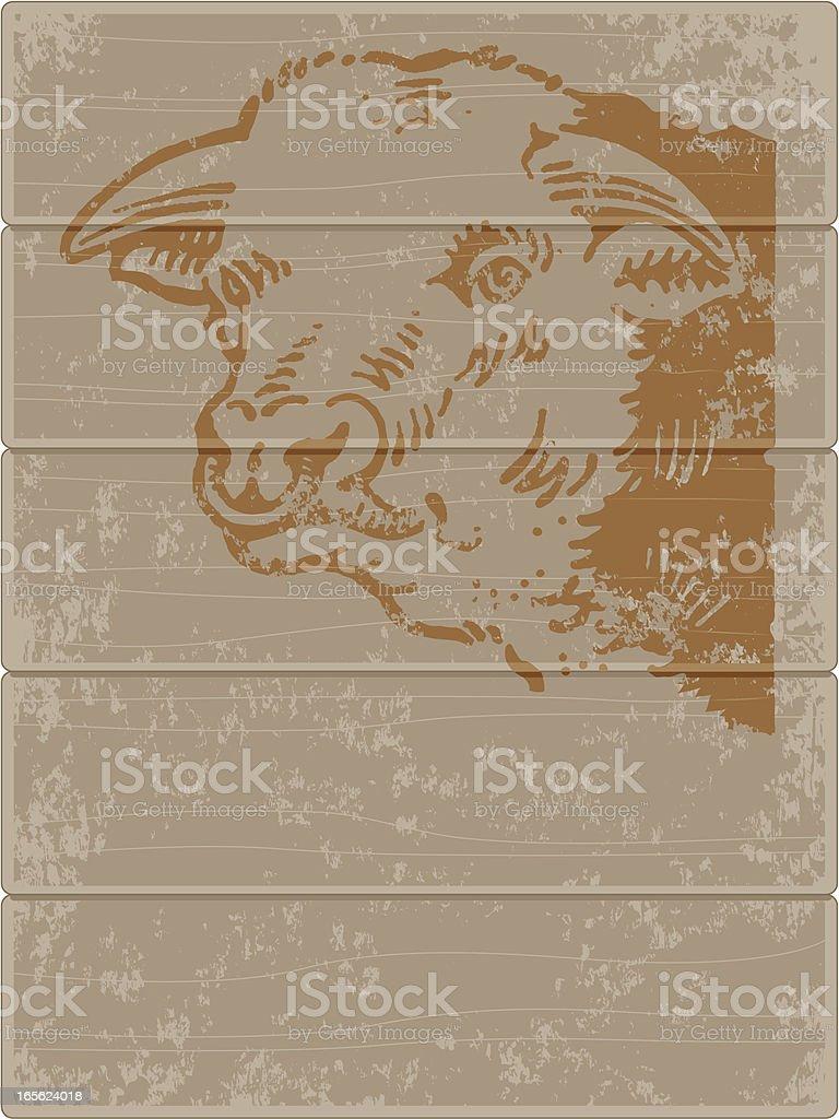 Grunge bull stencil. vector art illustration