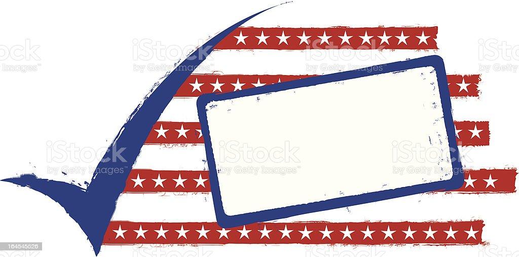 Grunge Check Political Tag royalty-free stock vector art
