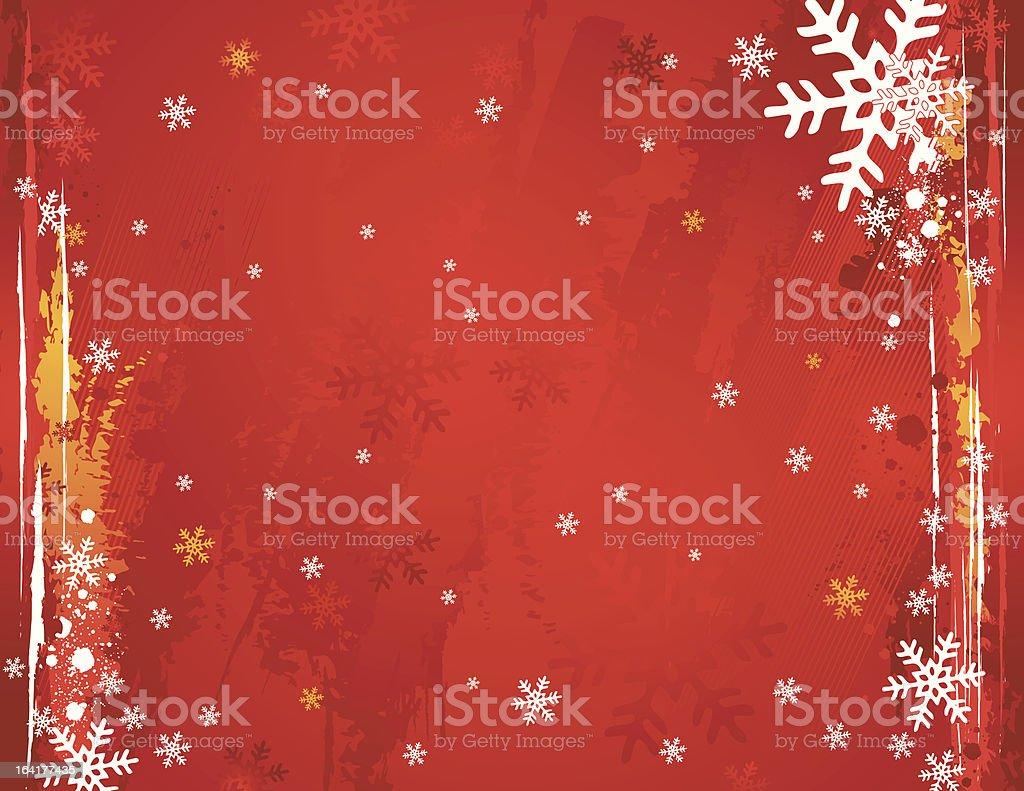 grunge christmas background, vector royalty-free stock vector art