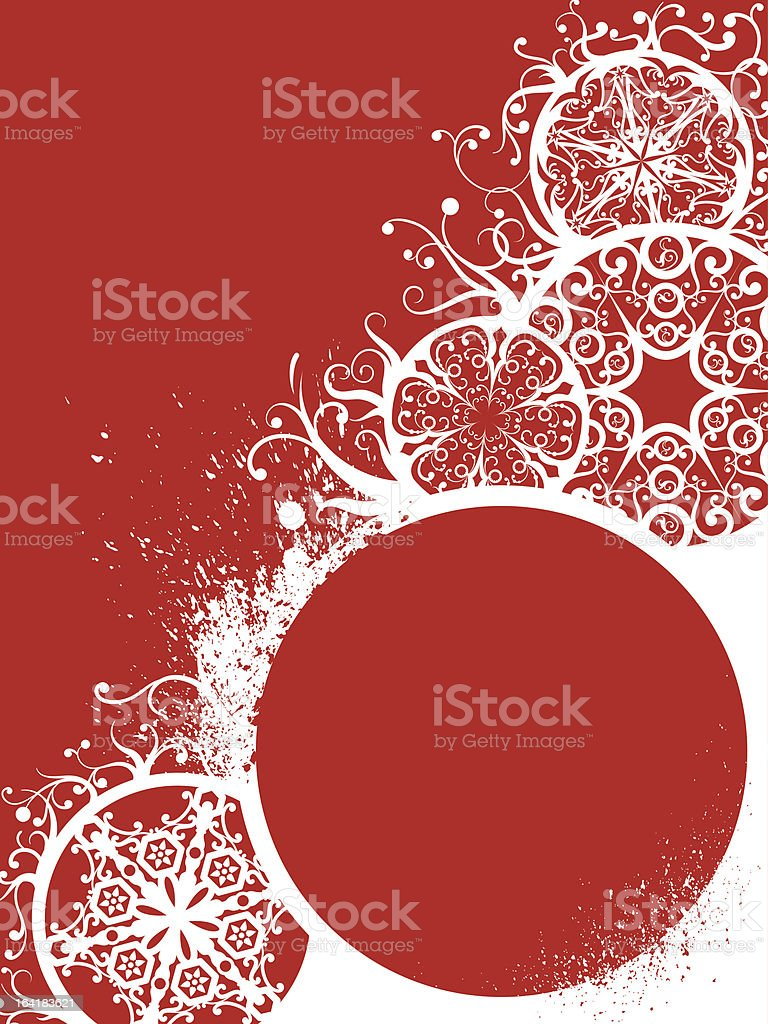 Grunge Christmas decorations royalty-free stock vector art