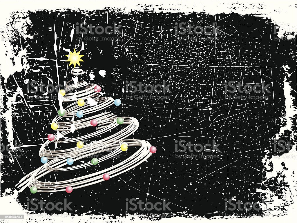 Grunge Christmas royalty-free stock vector art