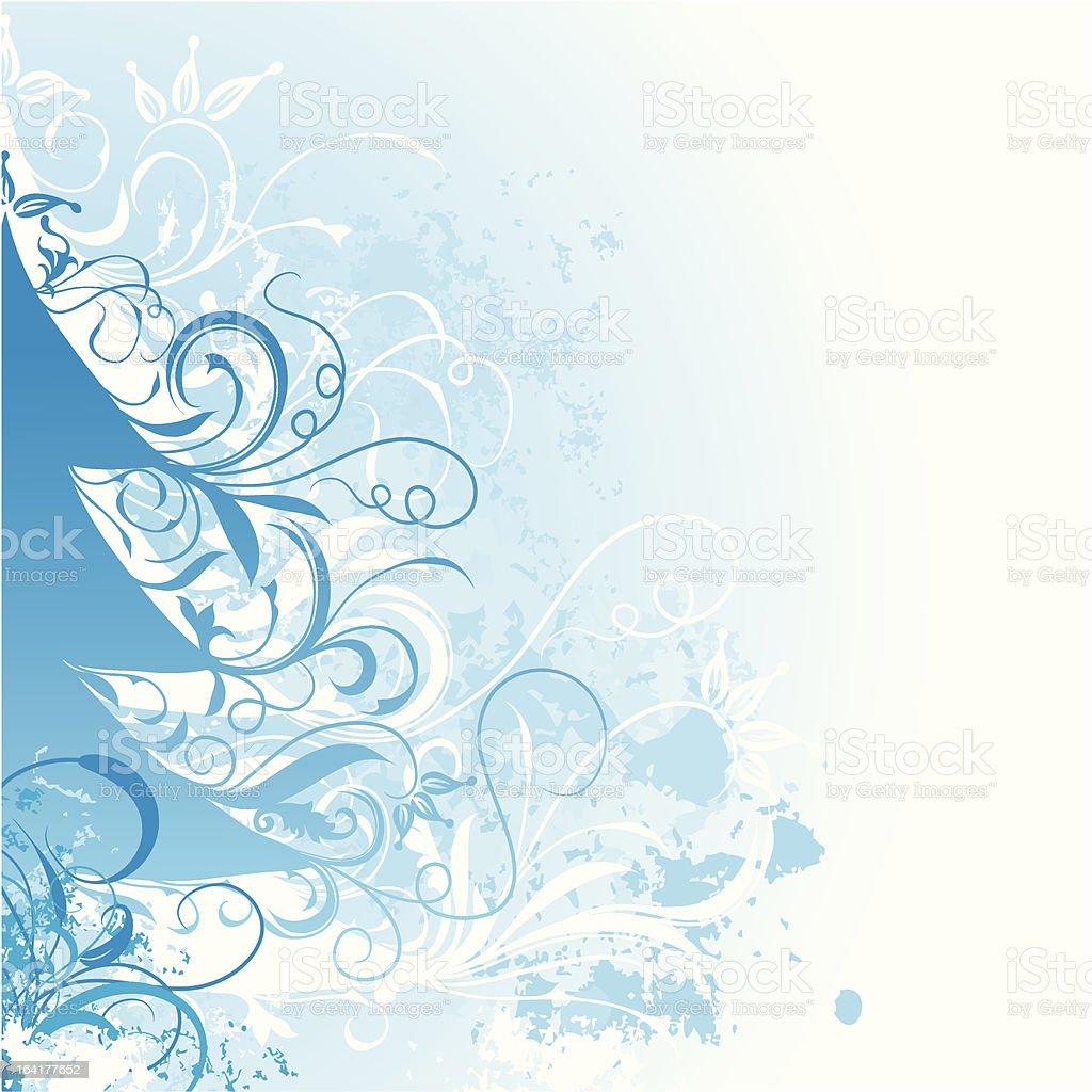 Grunge christmas tree background royalty-free stock vector art