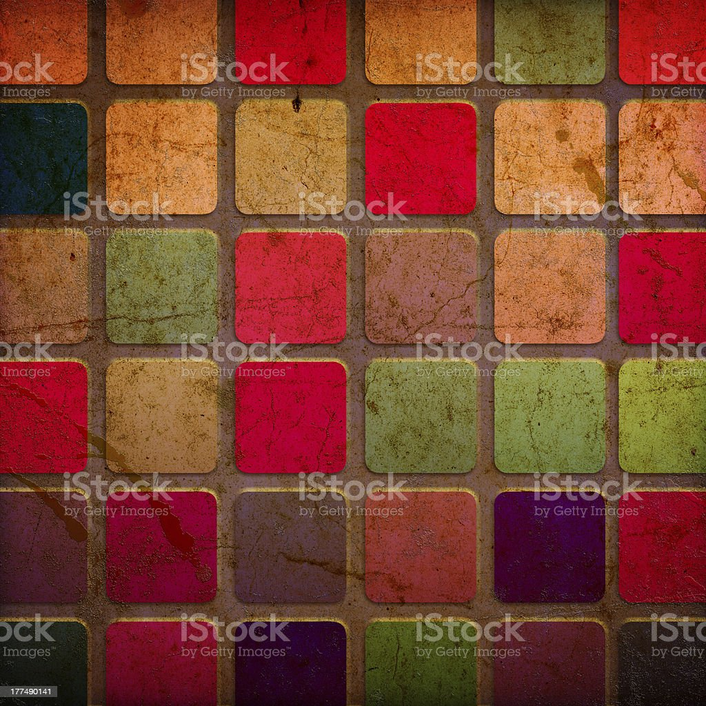 grunge colourful squares royalty-free stock vector art