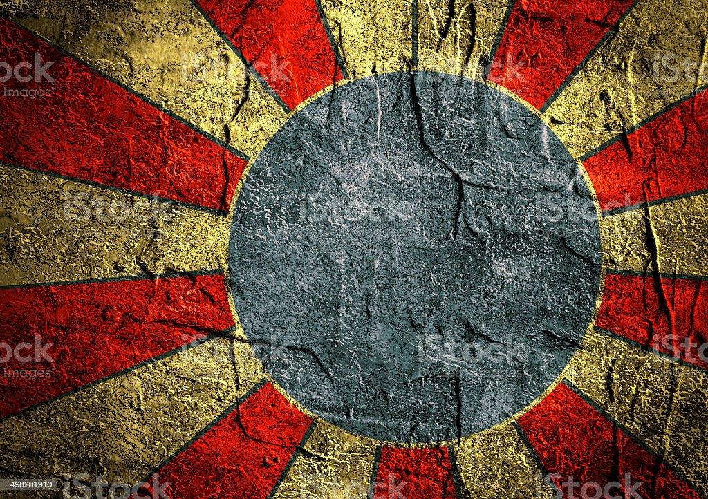 grunge concrete sun rays backdrop vector art illustration