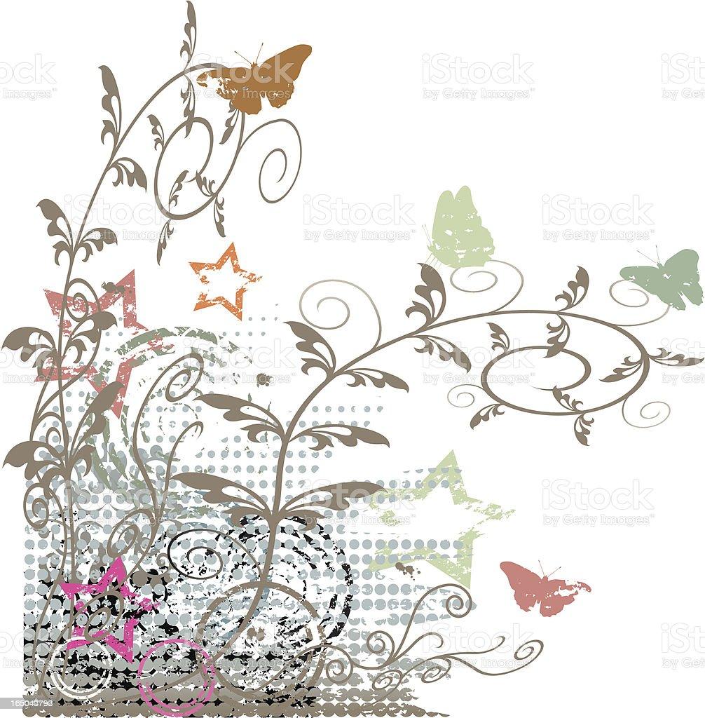 Grunge corner decoration vector art illustration