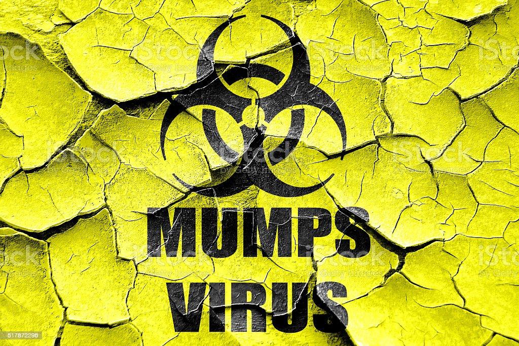 Grunge cracked Mumps virus concept background vector art illustration
