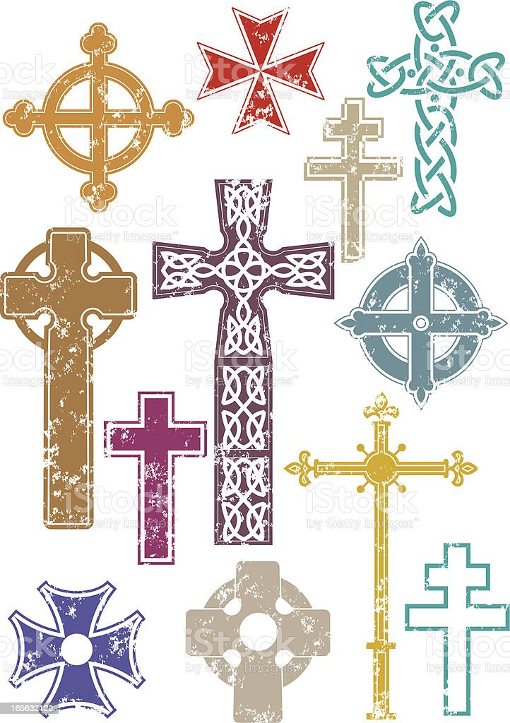 Grunge crosses royalty-free stock vector art
