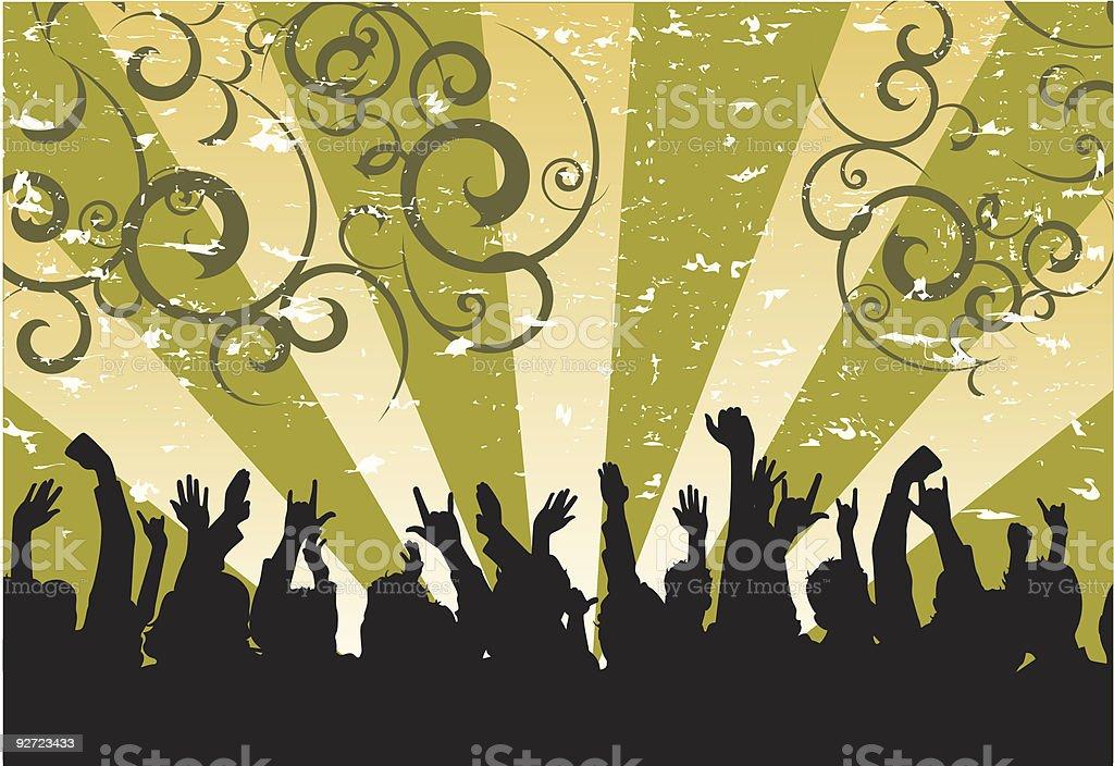 Grunge Crowd royalty-free stock vector art