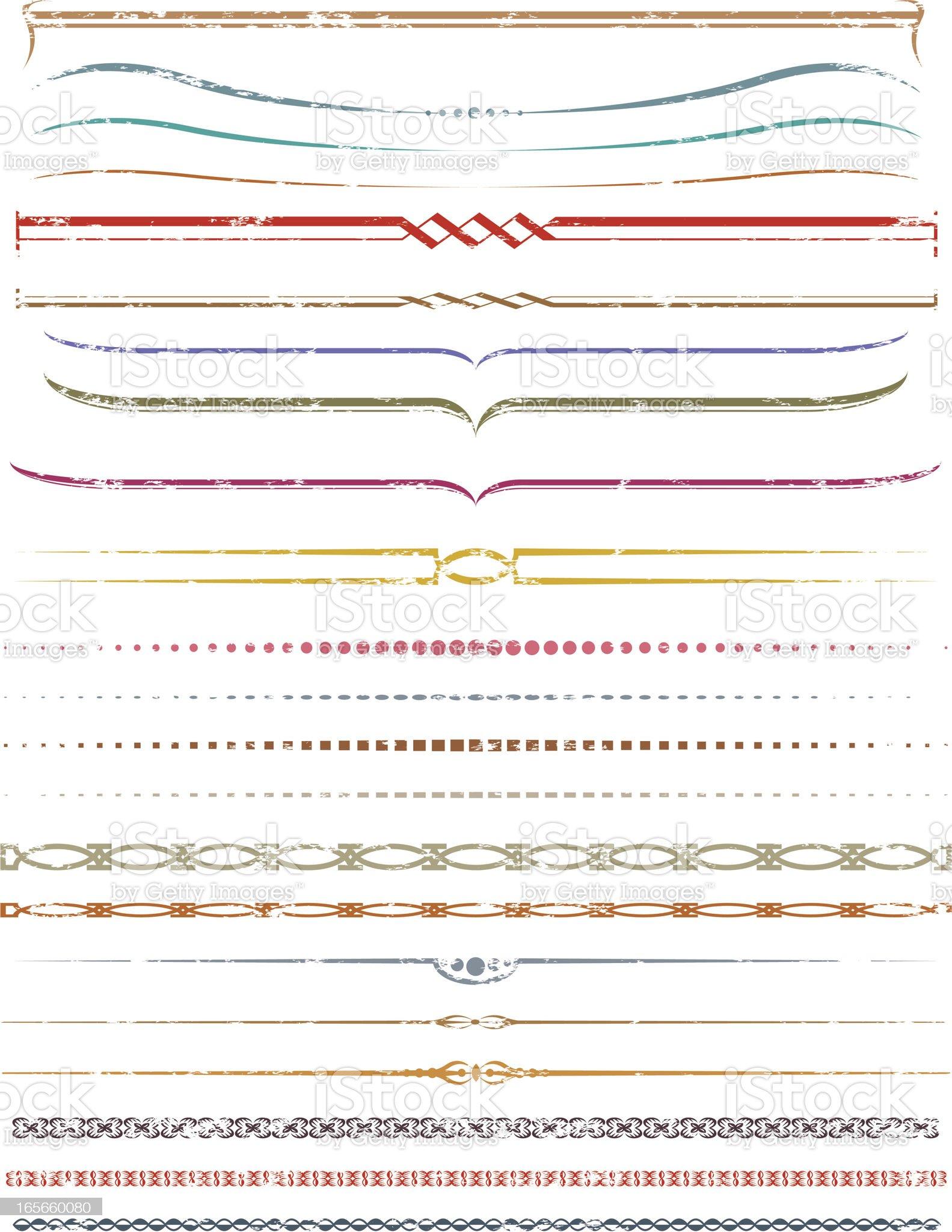 Grunge decorative lines royalty-free stock vector art