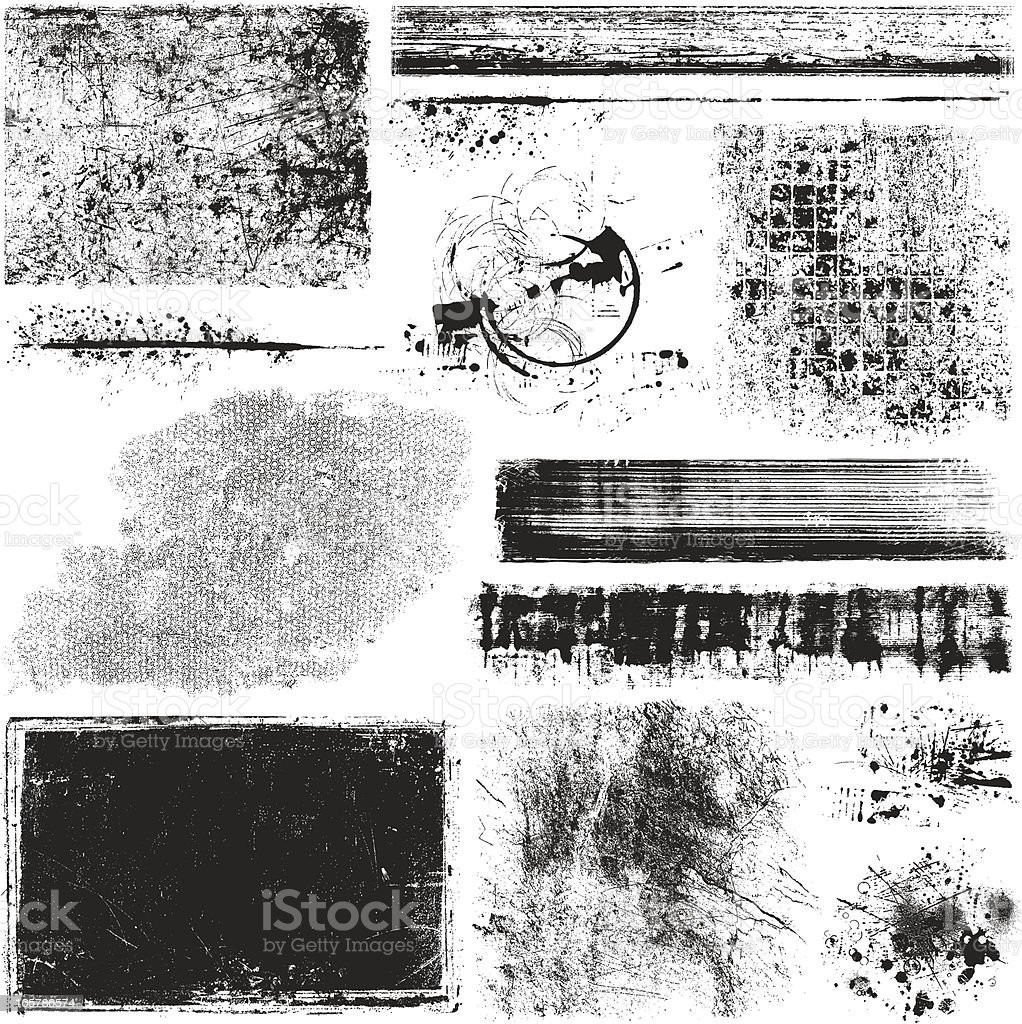 Grunge Elements vector art illustration