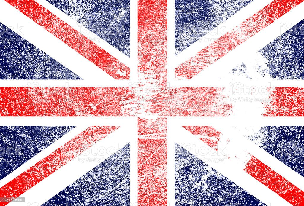 grunge England flag royalty-free stock vector art