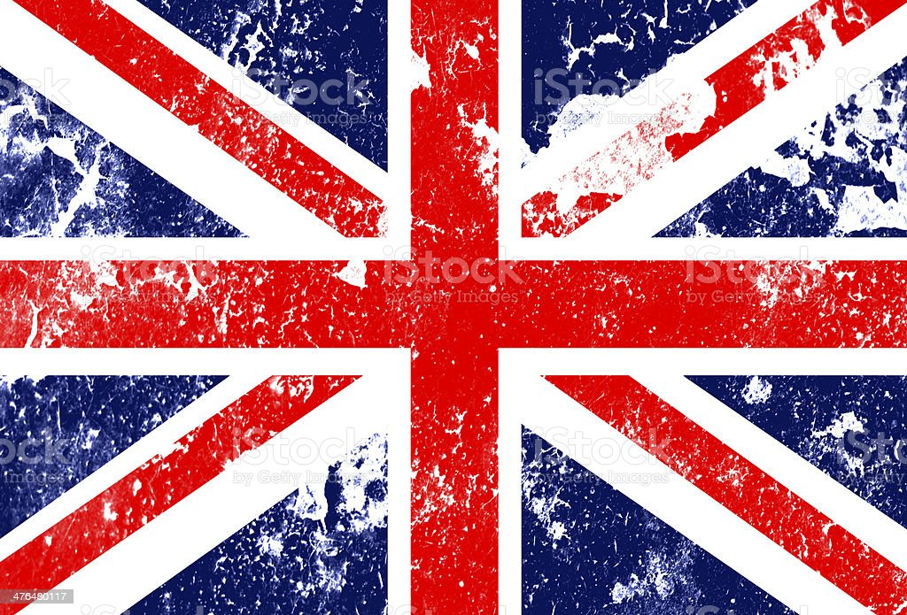 grunge England flag royalty-free stock vector art