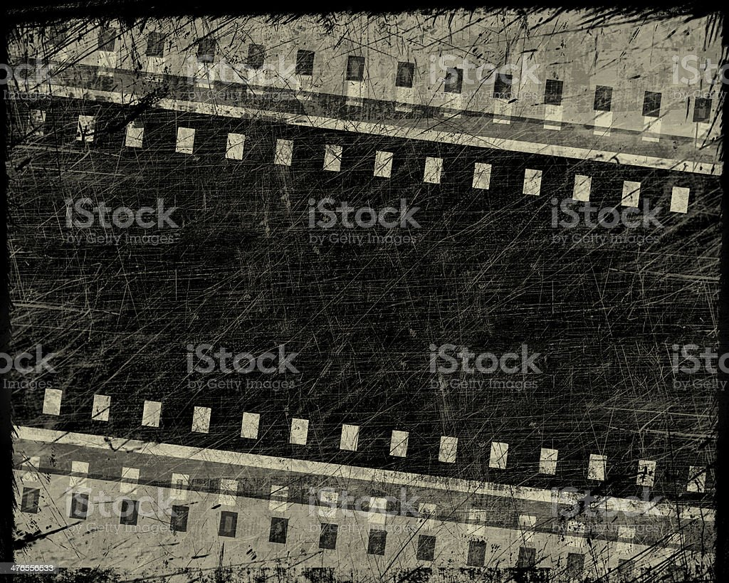 grunge film stripe with place for text royalty-free stock vector art