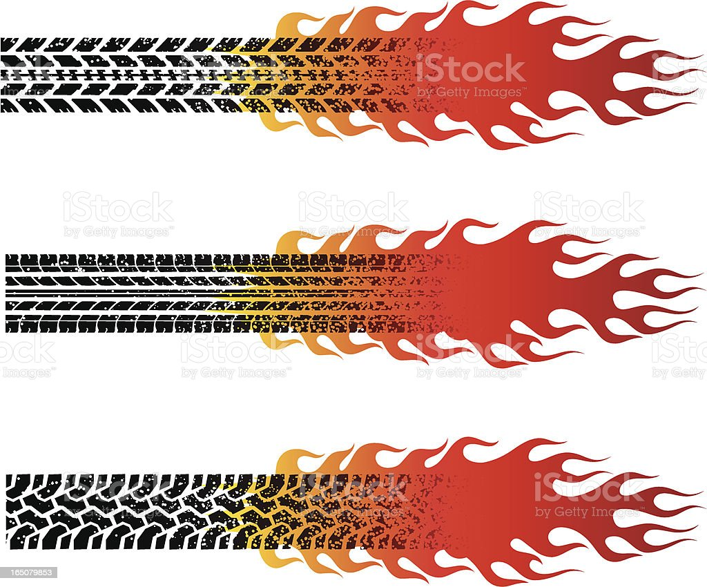 grunge fire tread royalty-free stock vector art