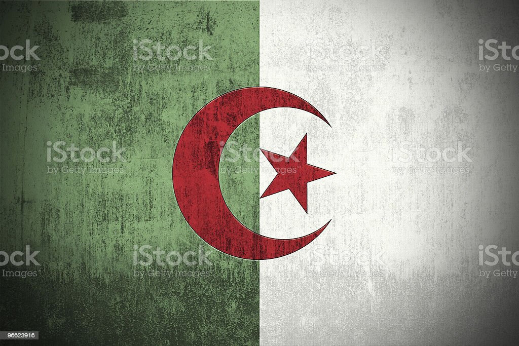 Grunge Flag Of Algeria vector art illustration
