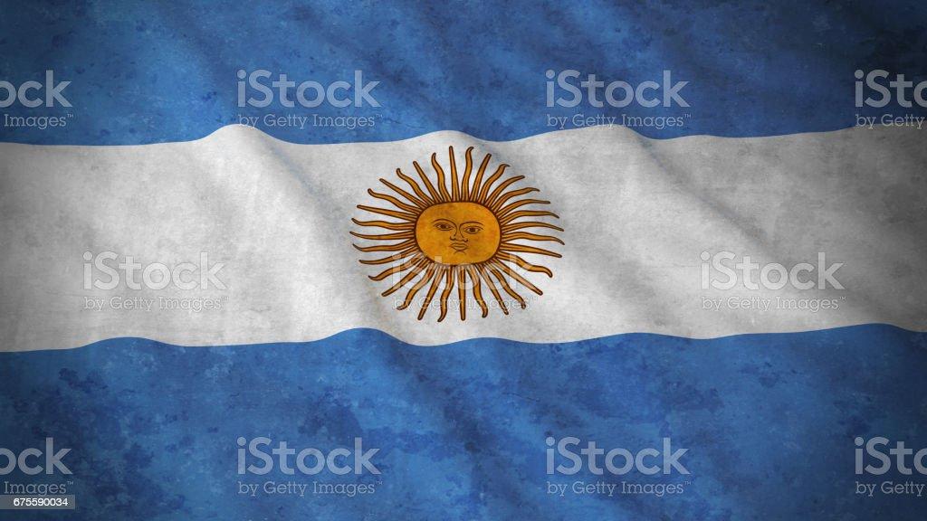 Grunge Flag of Argentina - Dirty Argentinian Flag 3D Illustration vector art illustration