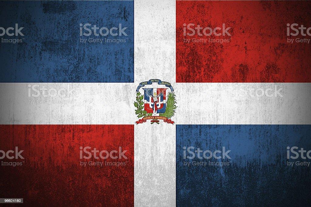 Grunge Flag Of Dominican Republic vector art illustration