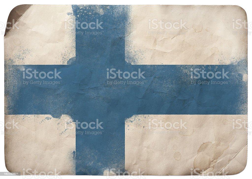 Grunge flag of Finland vector art illustration
