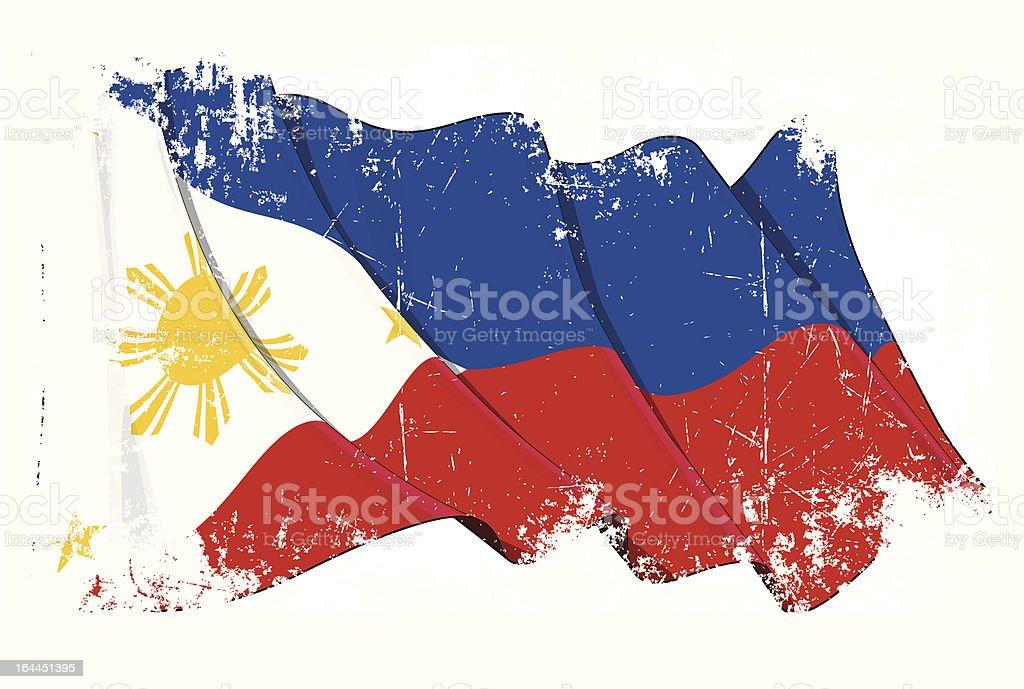 Grunge Flag of Philippines vector art illustration