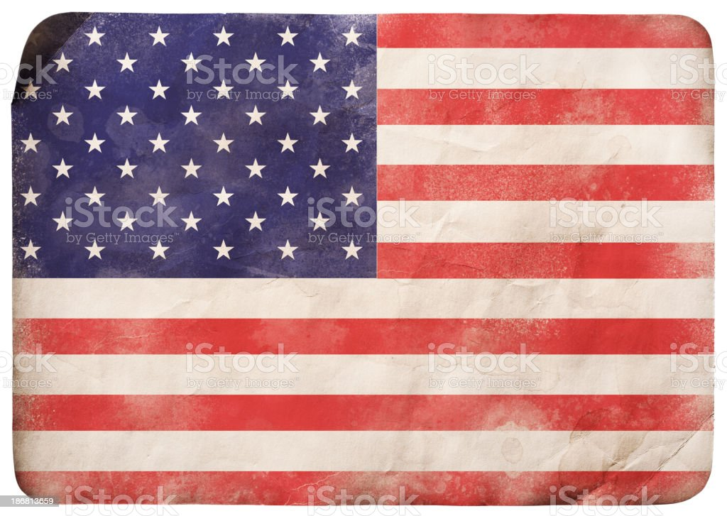 Grunge flag of USA royalty-free stock vector art