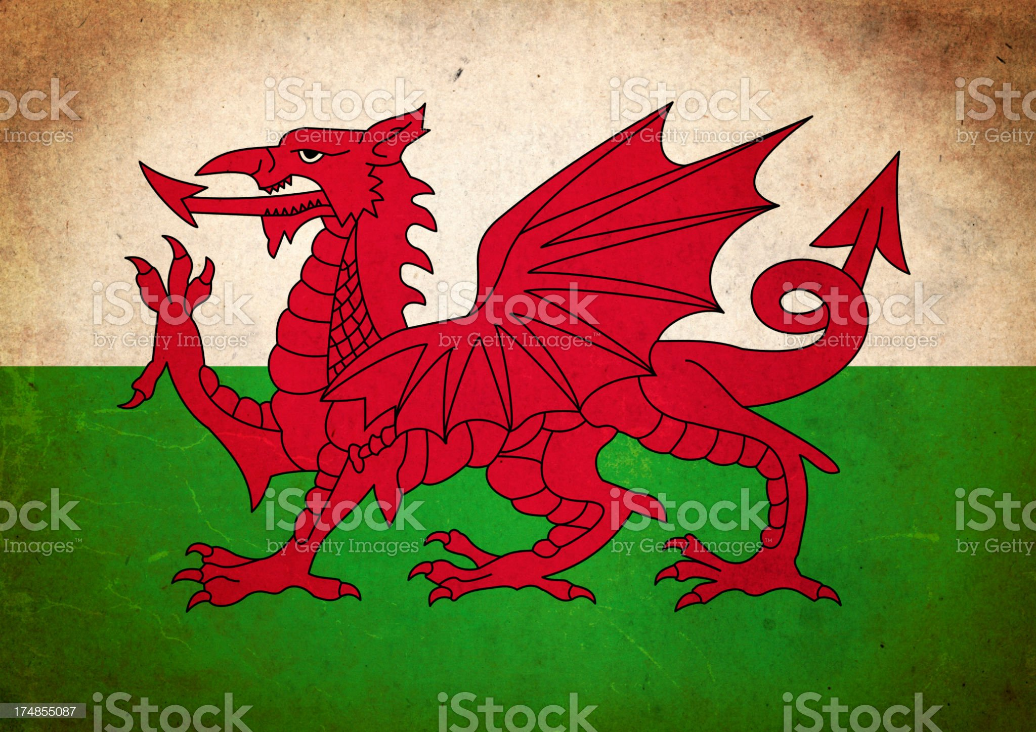 Grunge Flag of Wales royalty-free stock photo