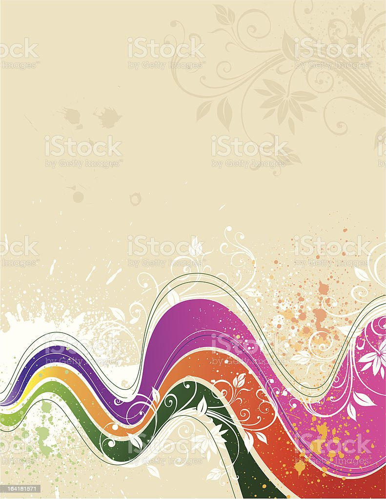Grunge floral background royalty-free stock vector art