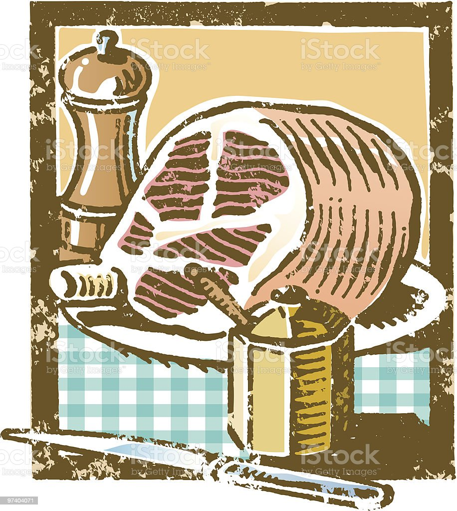 Grunge food vector art illustration