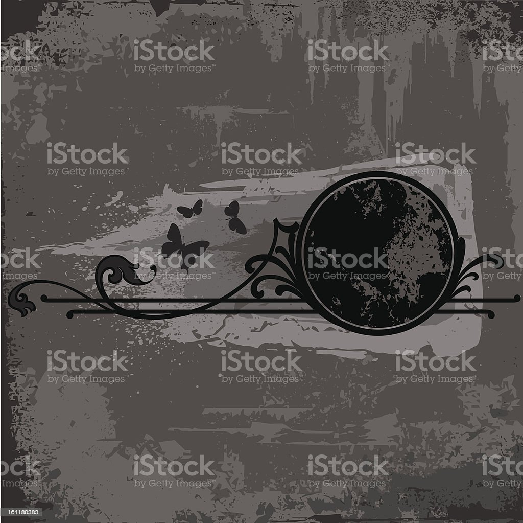grunge frame or background royalty-free stock vector art