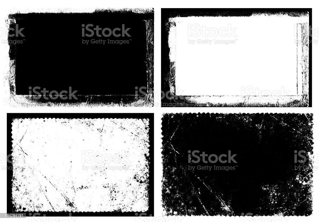 Grunge Frame & Texture (XXXL) vector art illustration