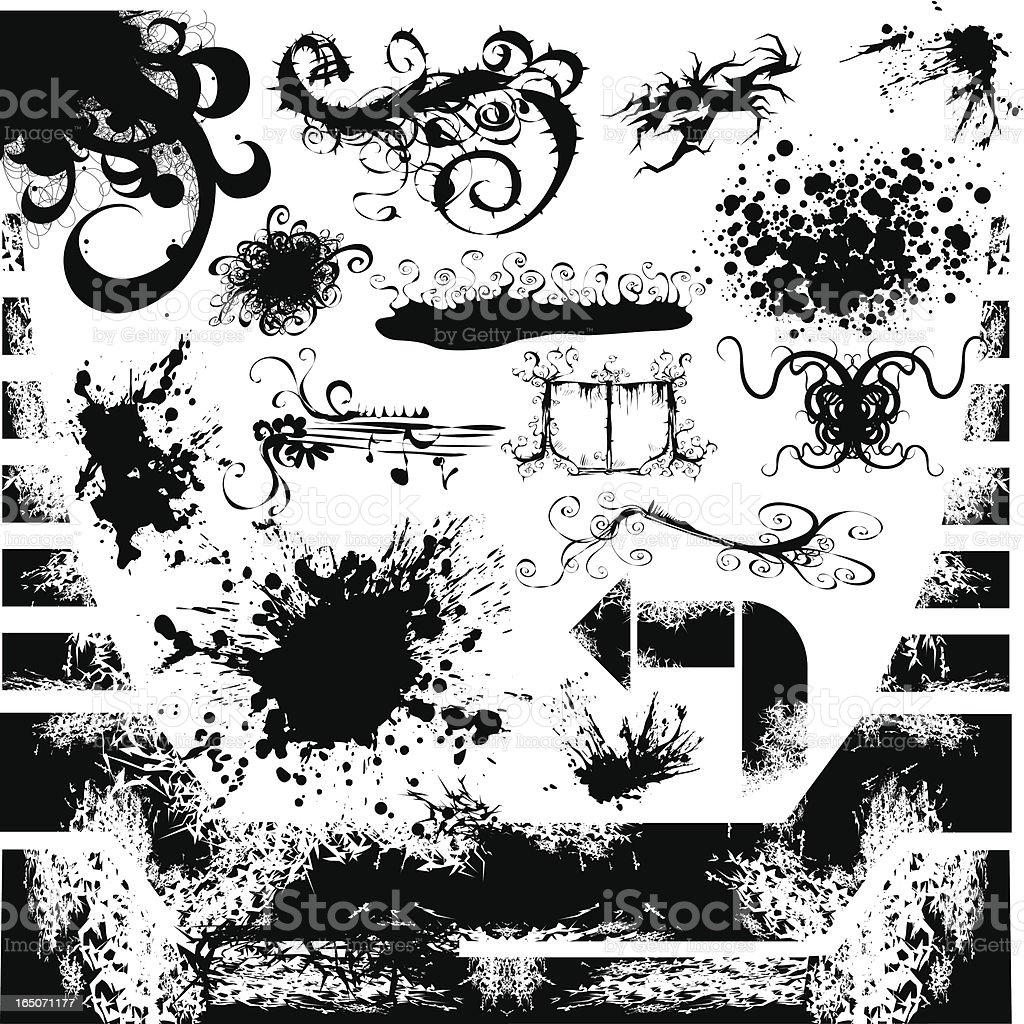 Grunge Freaky and Weird vector art illustration