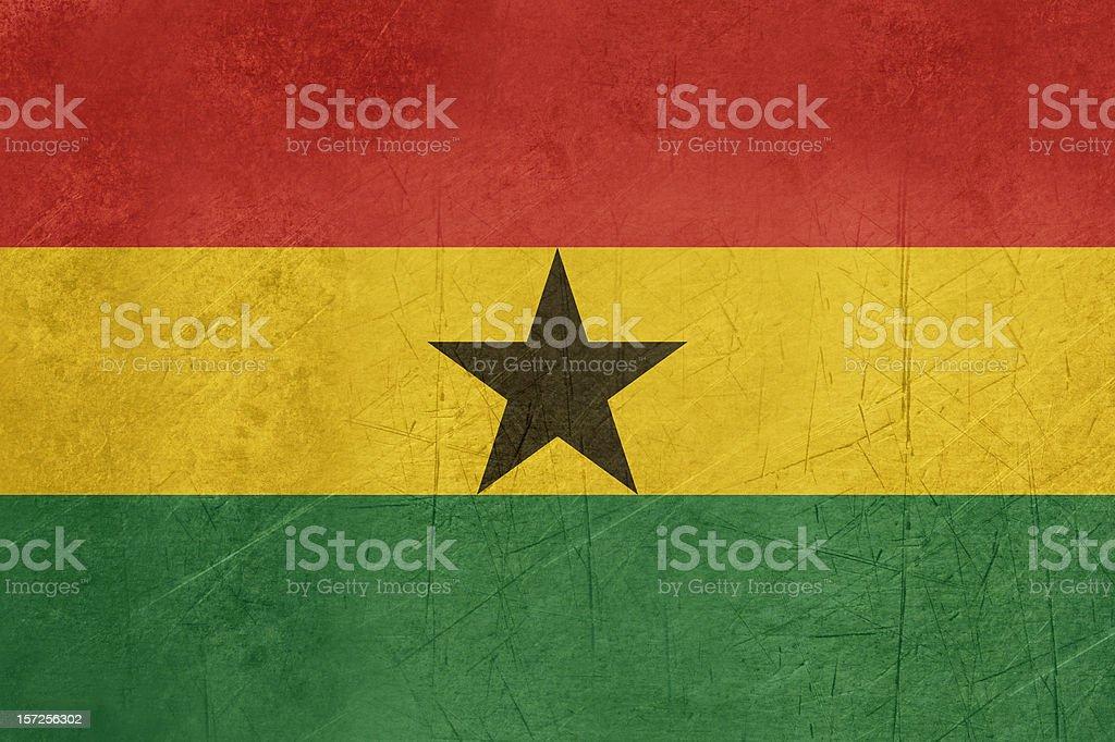 Grunge Ghana flag royalty-free stock vector art