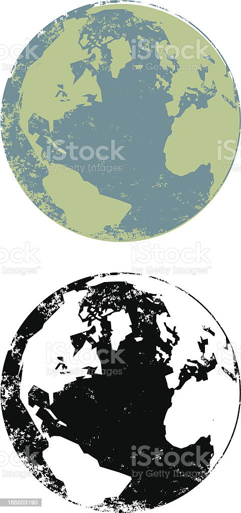 Grunge globe royalty-free stock vector art