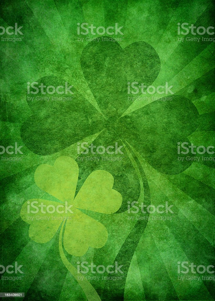 grunge green st. patrick background royalty-free stock vector art