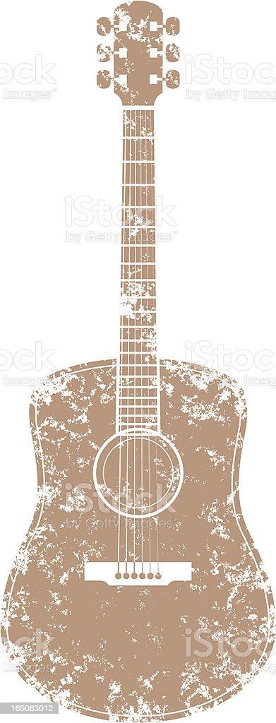 Grunge guitar two vector art illustration