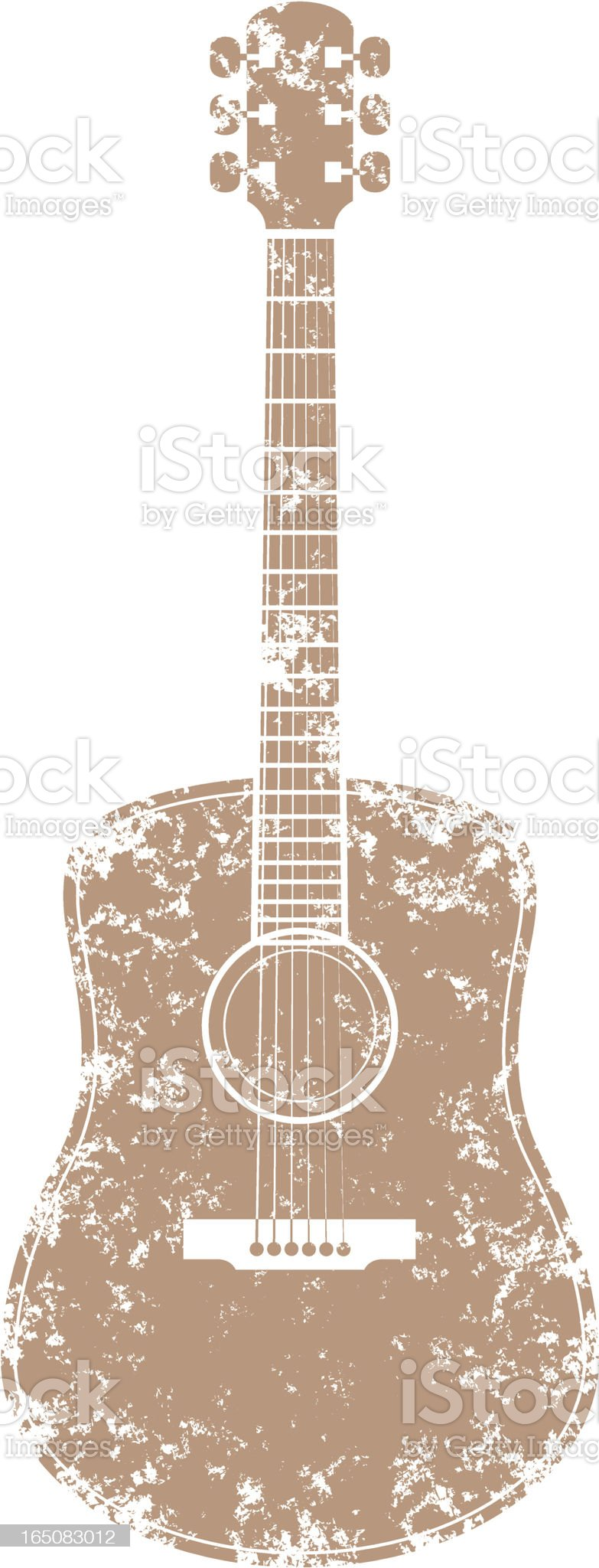 Grunge guitar two royalty-free stock vector art