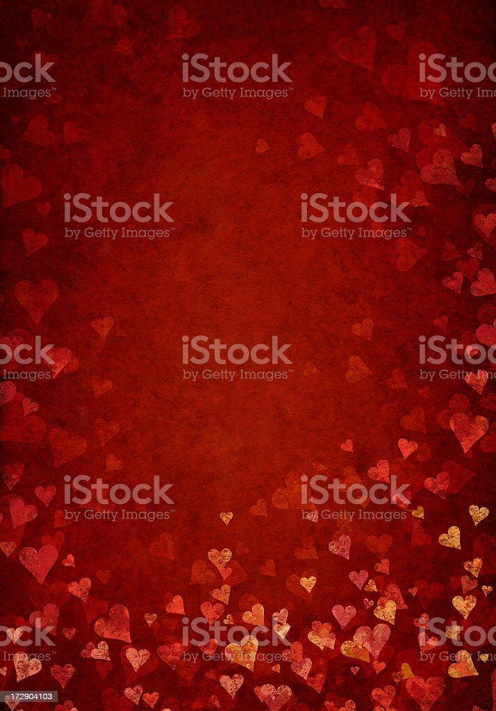 grunge heart blossom background royalty-free stock vector art