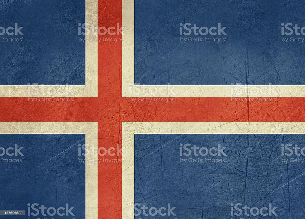 Grunge Iceland Flag royalty-free stock vector art