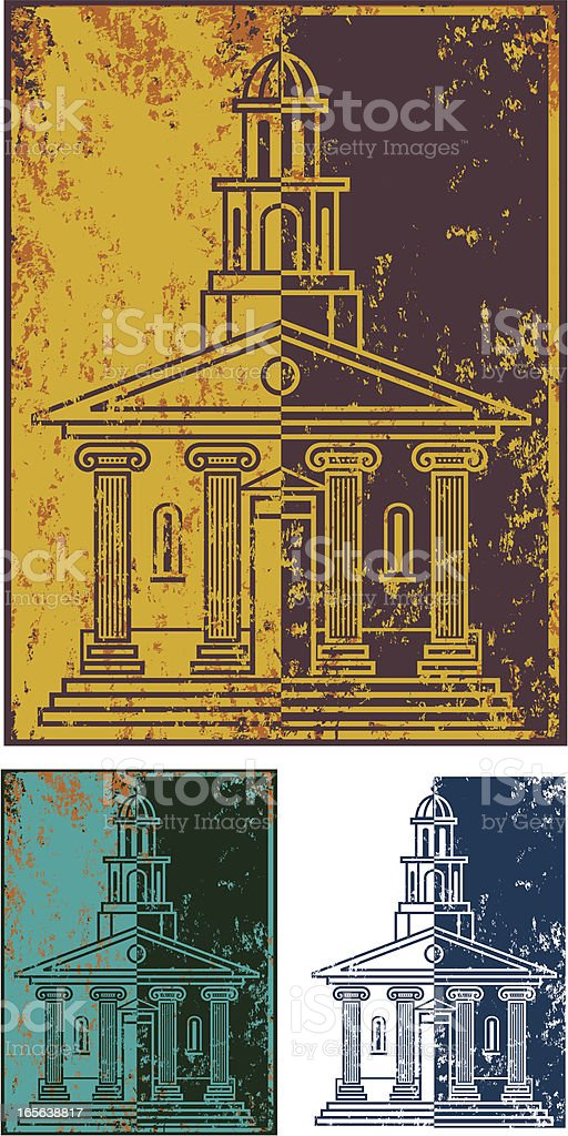Grunge important building royalty-free stock vector art