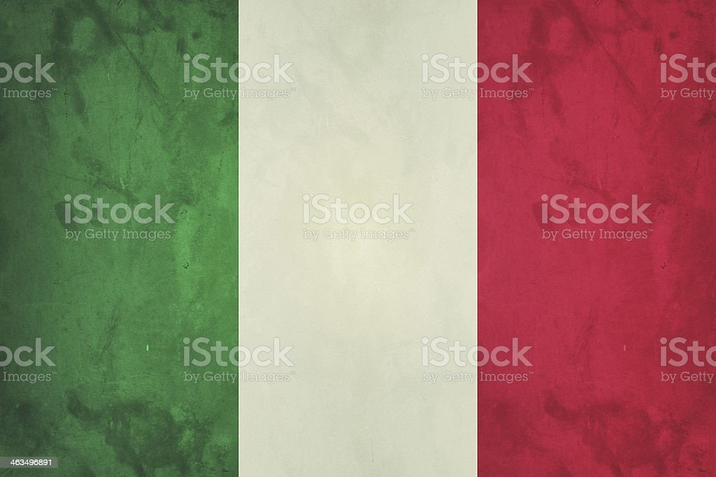 Grunge italian flag vector art illustration