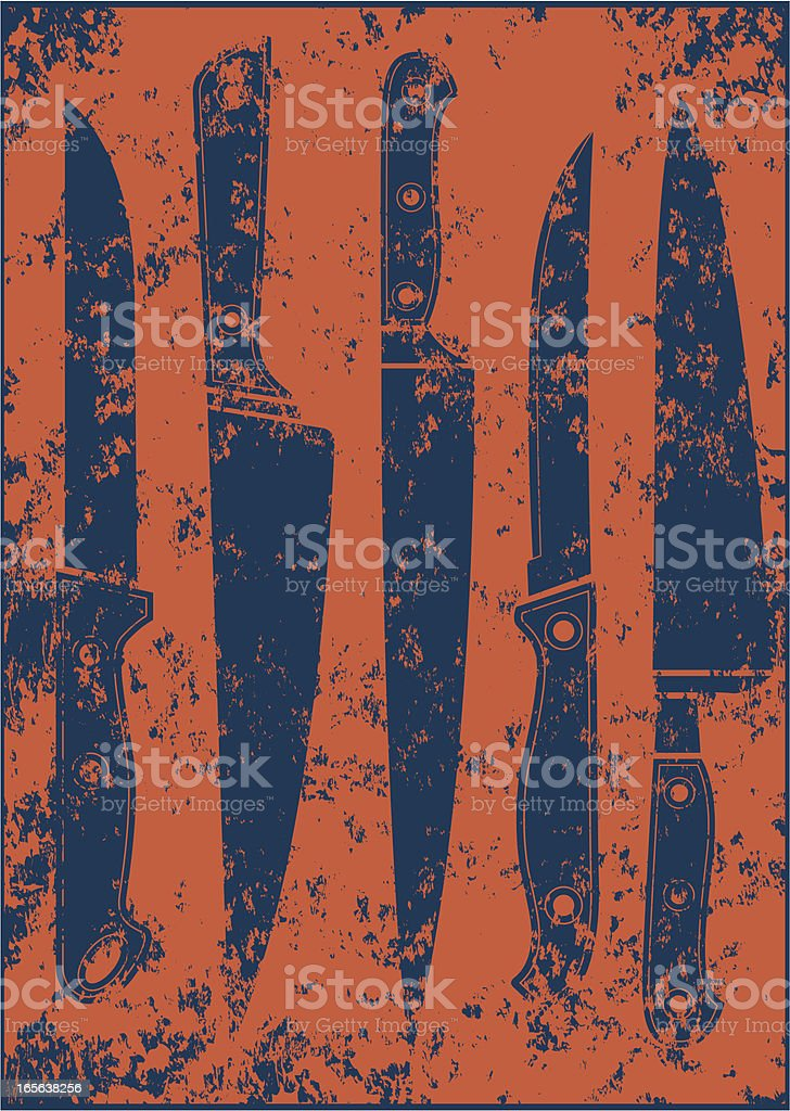 Grunge knives royalty-free stock vector art