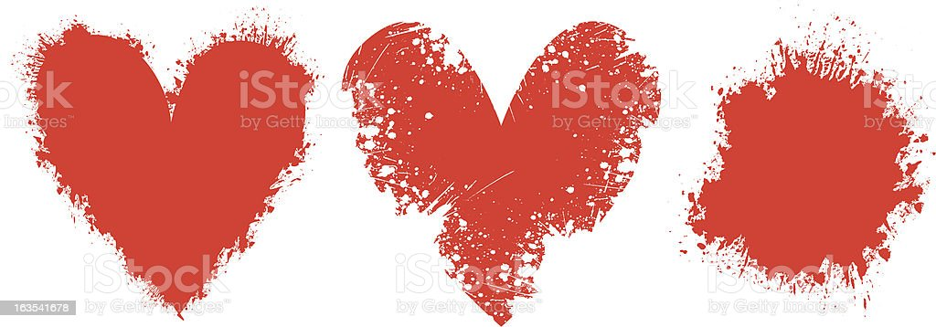 Grunge love - vector vector art illustration