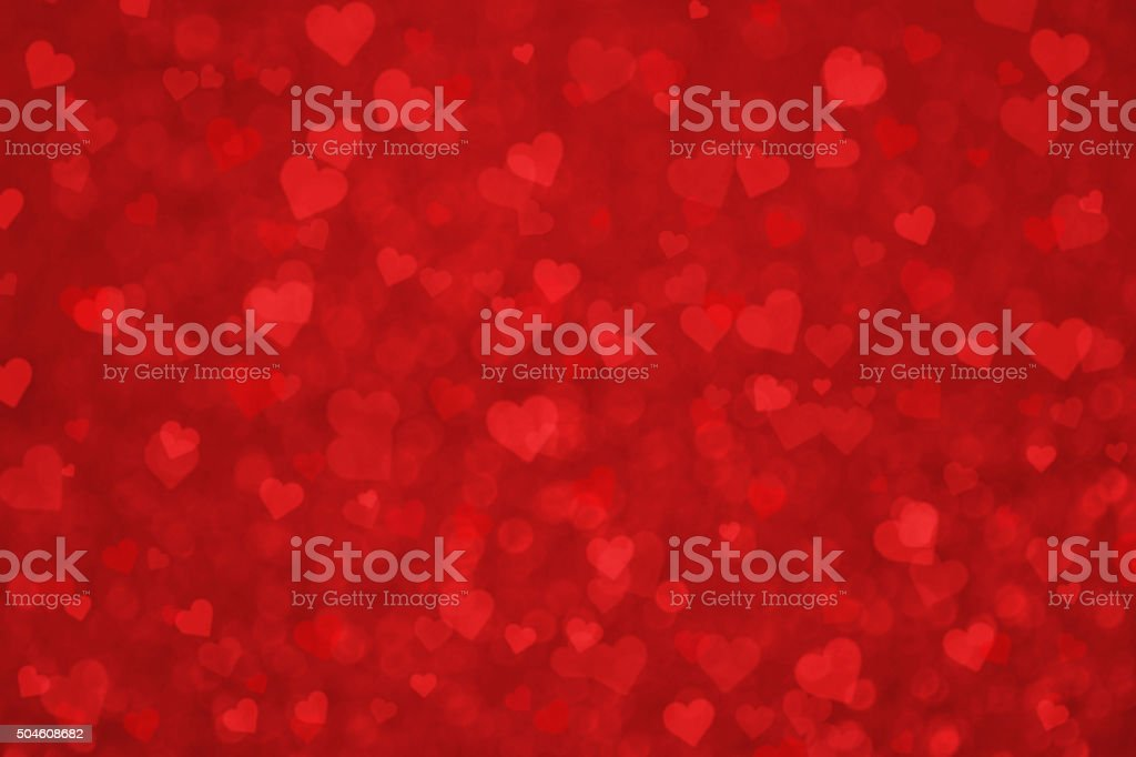 Grunge Lovely Valentine Red Heart Background vector art illustration