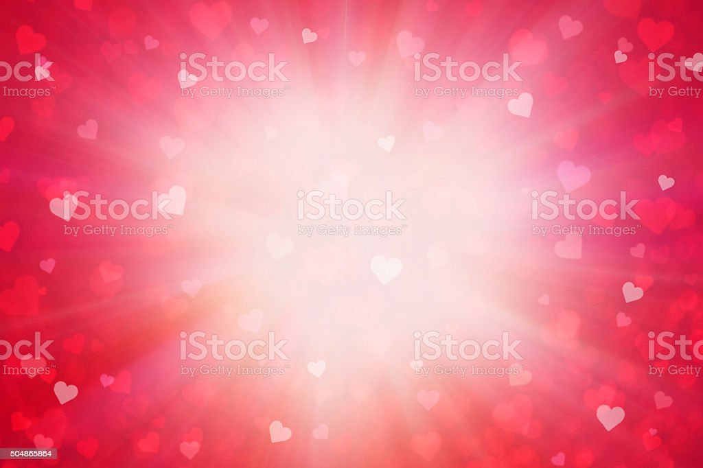 Grunge Lovely Valentine Red Heart Background vector art illustration