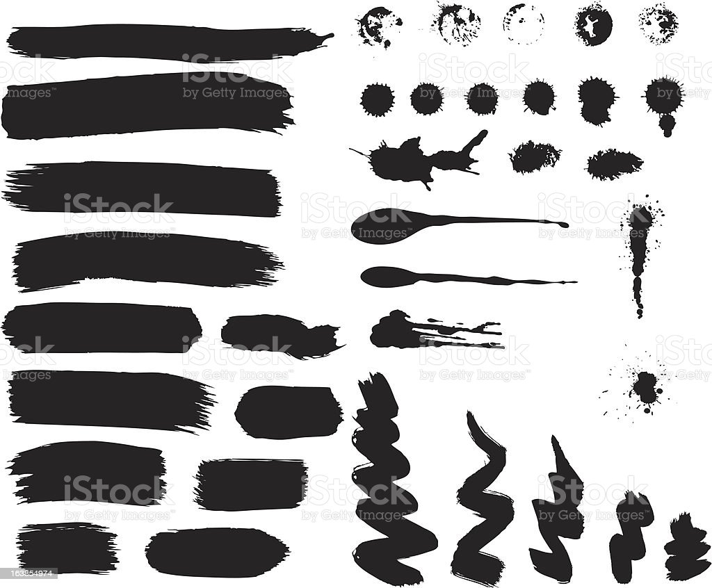 grunge materials royalty-free stock vector art