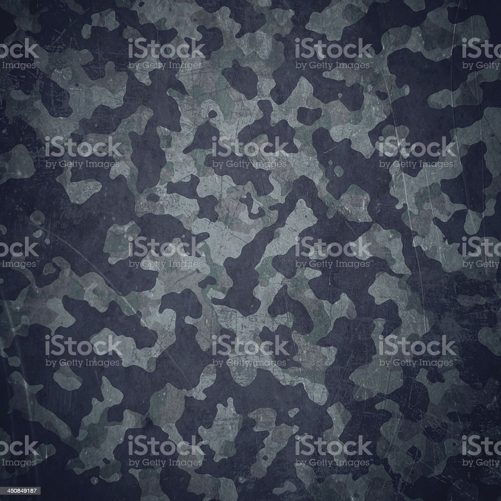 Grunge military background in blue vector art illustration