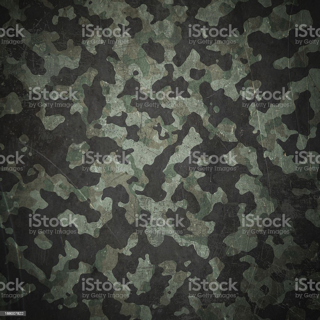 Grunge military camouflage background vector art illustration