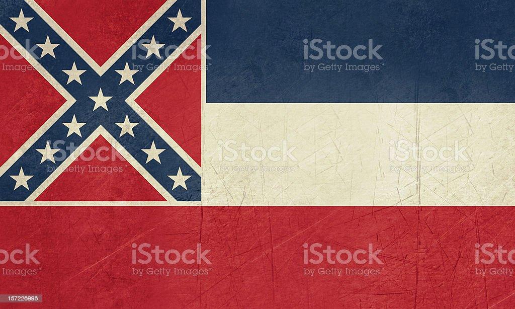Grunge Mississippi state flag vector art illustration