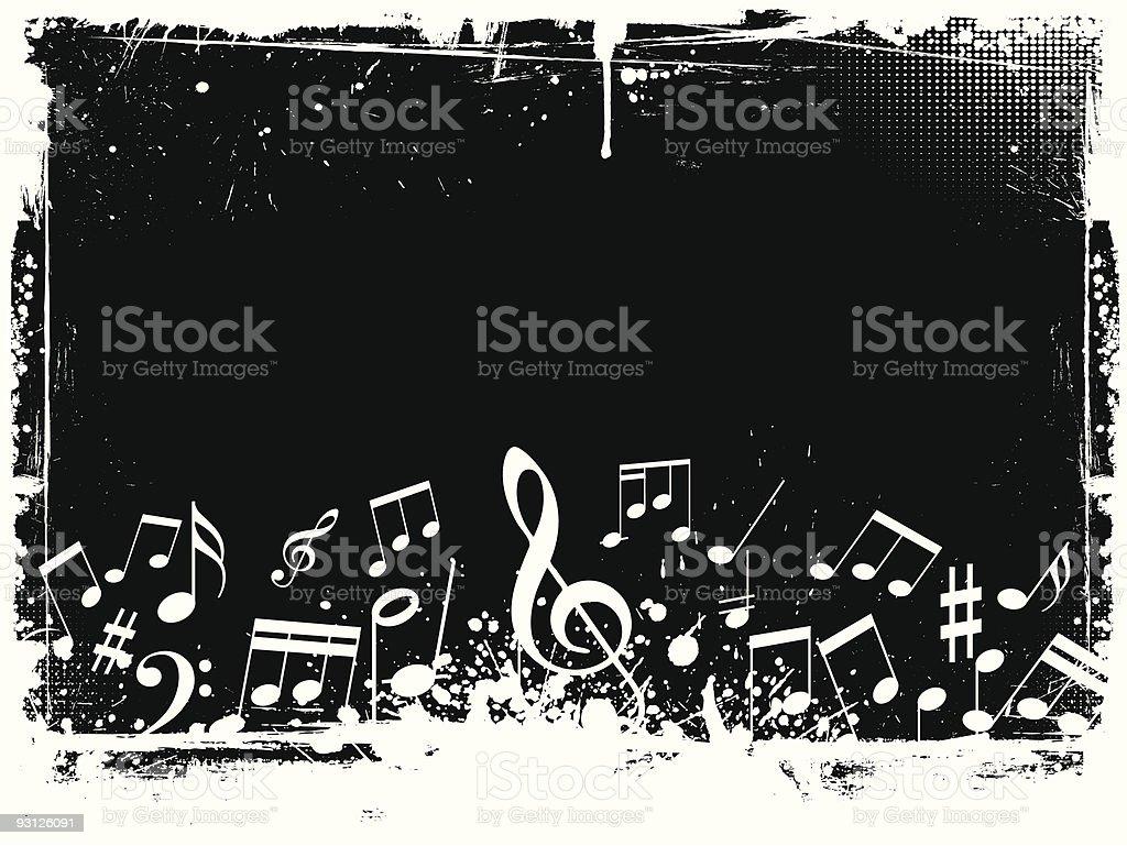 Grunge music royalty-free stock vector art
