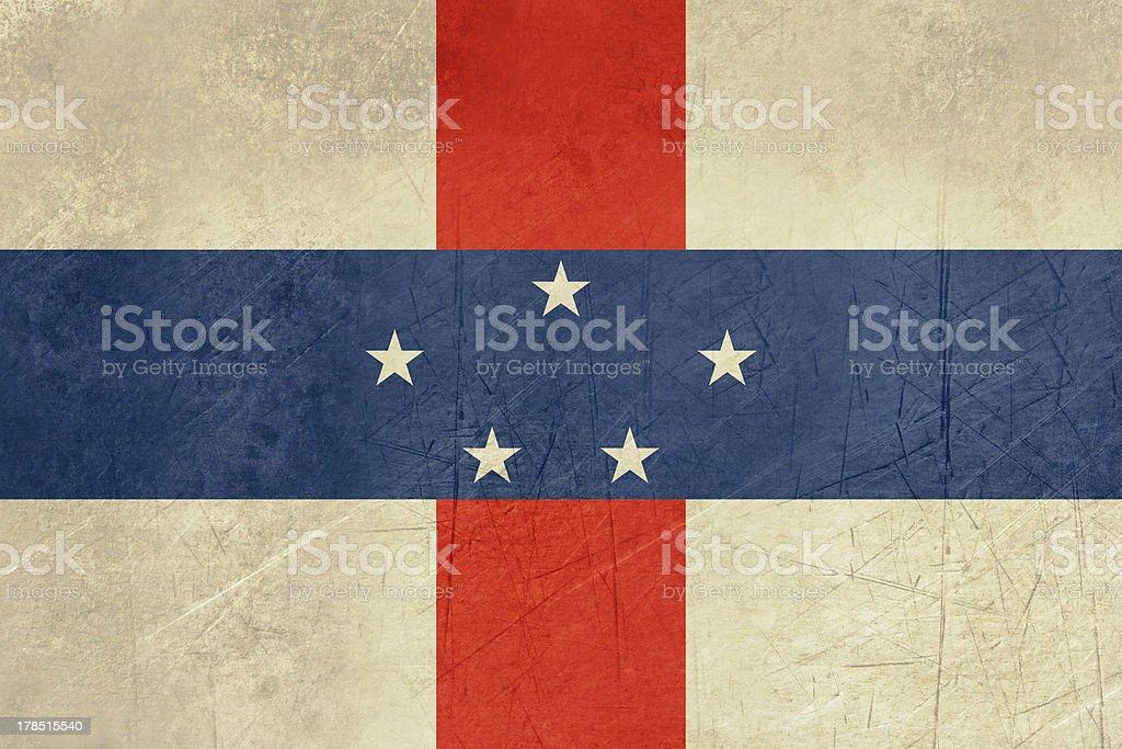 Grunge Netherlands Antilles royalty-free stock vector art